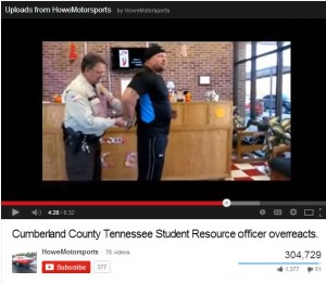 Screenshot of TN father being arrested after school refused to allow him to retrieve his children after school.