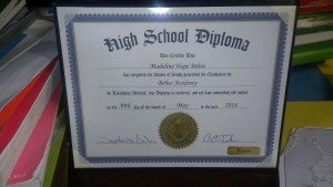 Diplomas like this one can be ordered from HSLDA and personalized.