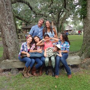 Family photo at Cracker Country, Tampa, FL